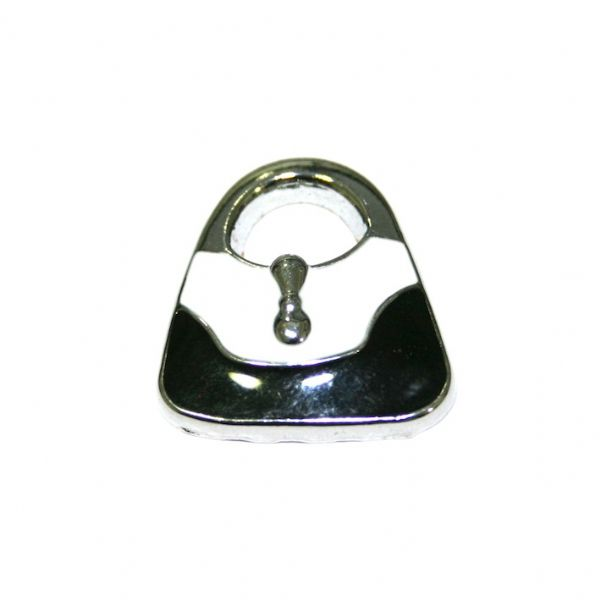 1pce x 21*20mm Rhodium plated dark black / white handbag enamel charm - SD03 - CHE1107
